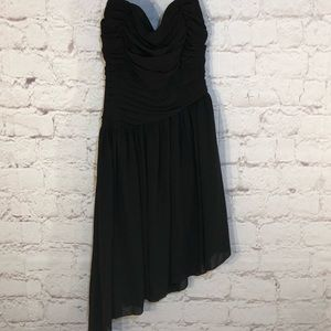 XXI SHEER PLEATED LITTLE BLACK DRESS-SIZE SMALL
